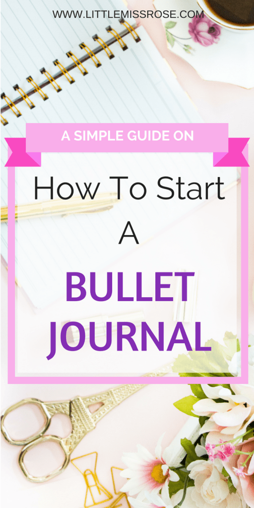 How to start a bullet journal - Pinterest image