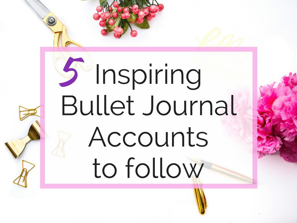 5 Inspiring bullet journals