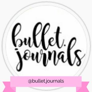 @bullet.journals Instagram account - www.littlemissrose.com