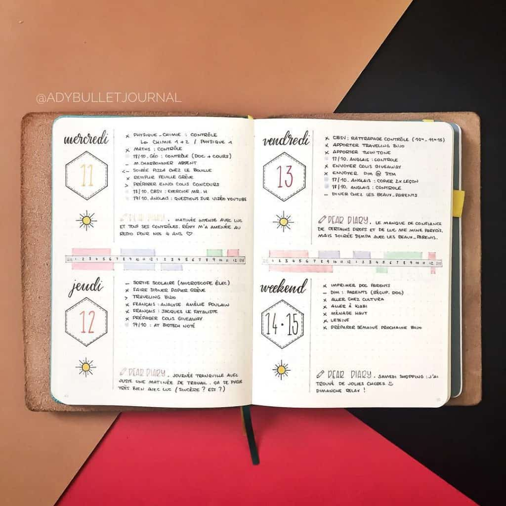 @planwithady How to journal in your bullet journal