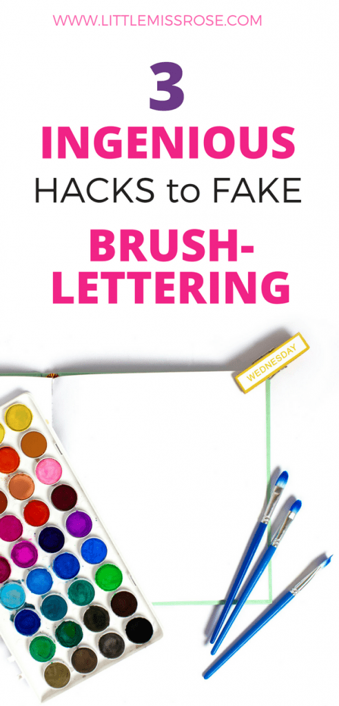 3 ingenious hacks to fake brush-lettering