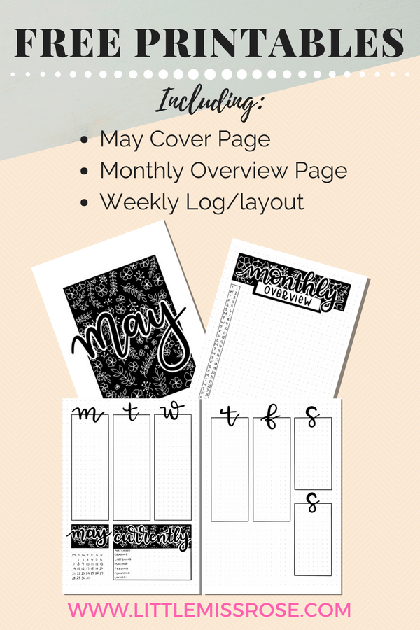 Access our Library of Free Bullet Journal Printables at www.littlemissrose.com