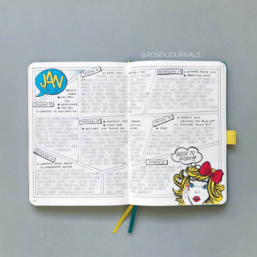 How to journal in your bullet journal Dailies www.littlemissrose.com