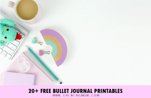 Find amazing free bullet journal printables here at ShiningMom.com