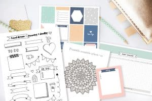 A round up of the best free bullet journal printables