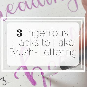 Three Ingenious Hacks to Fake Brush-lettering