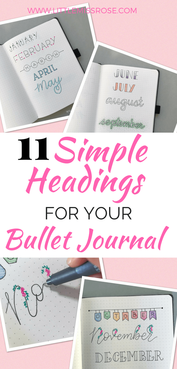 Learn how to create these simple hand-lettered headings for you bullet journal in this quick and easy tutorial