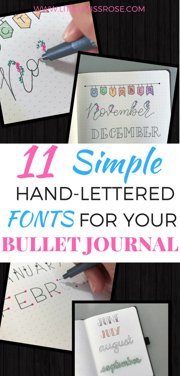 Find out how to create these simple hand-lettering fonts for headings in your bullet journal. Read this tutorial here!