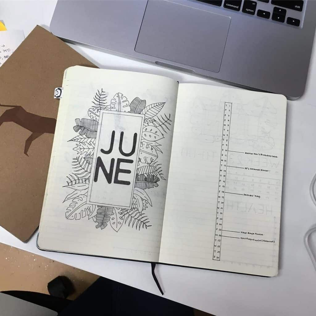 Summer ideas and inspiraton for your bullet journal. Get lots of ideas for layouts, spreads and trackers for your bujo #bujo #bulletjournal #summerbujo #bulletjournalinspiration