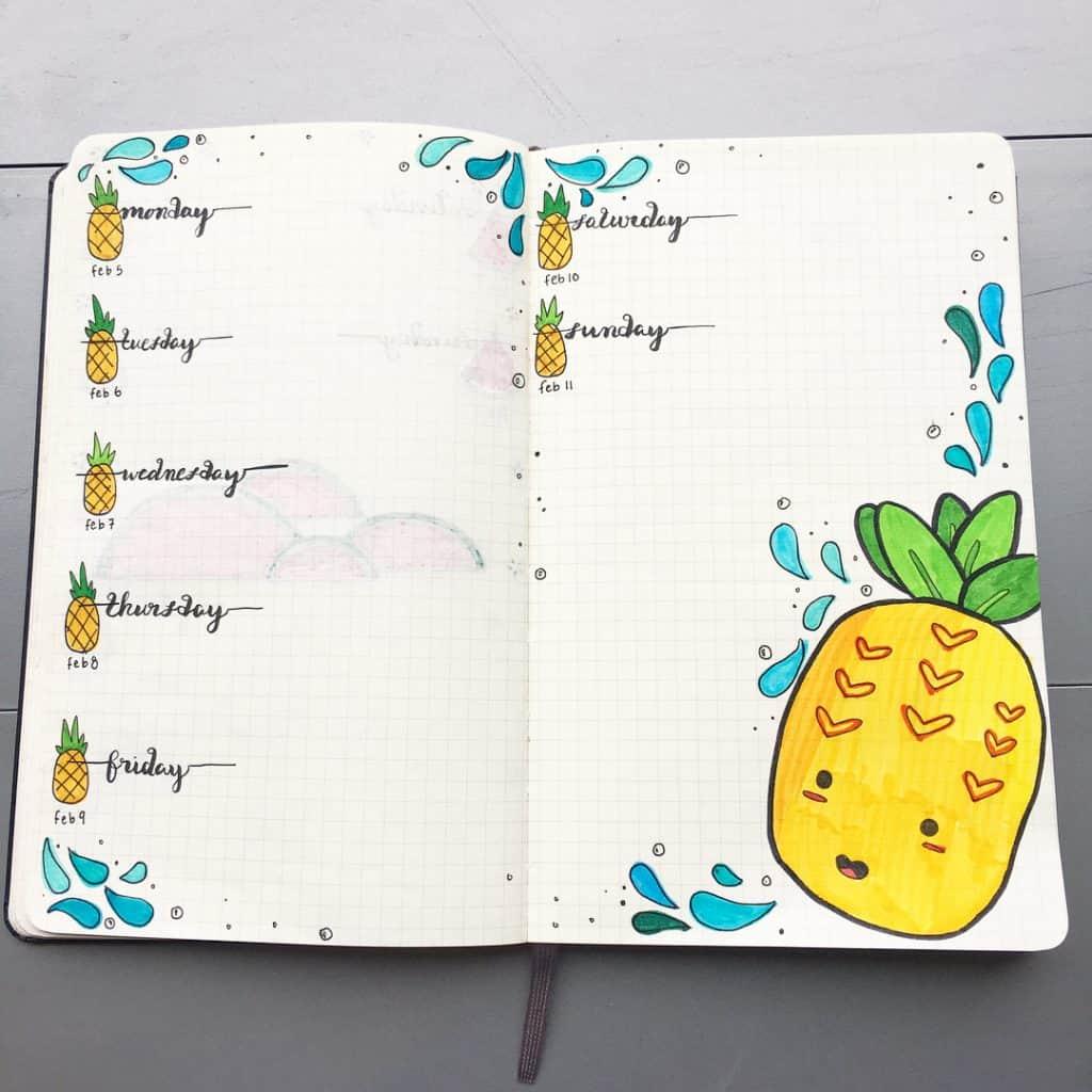 Need summer inspiration for you bullet journal? Then look here for some great bujo summer ideas! www.littlemissrose.com #bujo #bulletjournal #summerideas #bujoinspiration