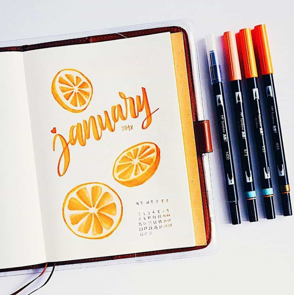 Find summer inspiration ideas for your bullet journal. These will make your bujo shout summer time! #bujo #bulletjournal #bulletjournalinspiration #summerbujo
