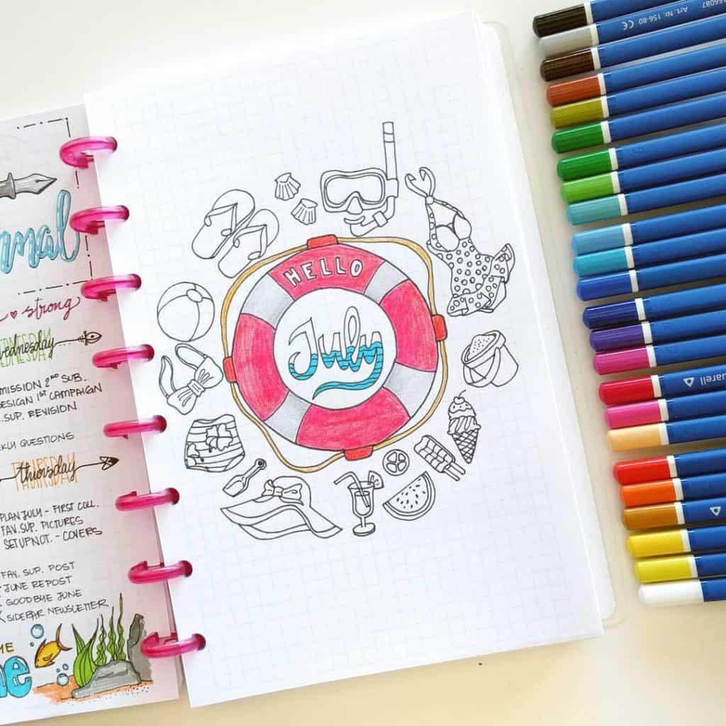 Fantastic Summer Ideas For Your Bullet Journal Little Miss Rose