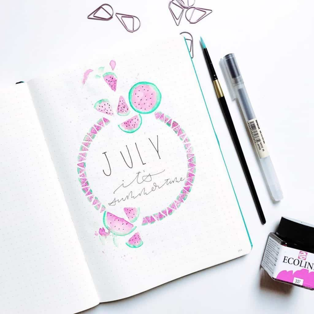 21 Fantastic Summer Ideas For Your Bullet Journal | Little