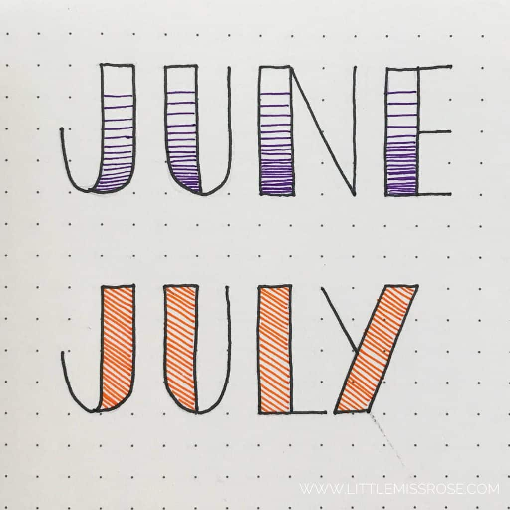 11 Simple And Easy Hand Lettering Fonts For Your Bullet Journal Learn How Here