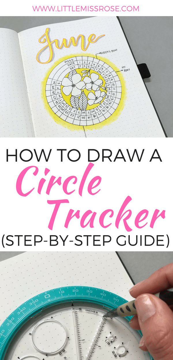 Learn how to create this simple circle mood tracker and other circular spreads using this amazing tool for creating circles in your bullet journal #bulletjournal #bujo #circlespread #circletracker