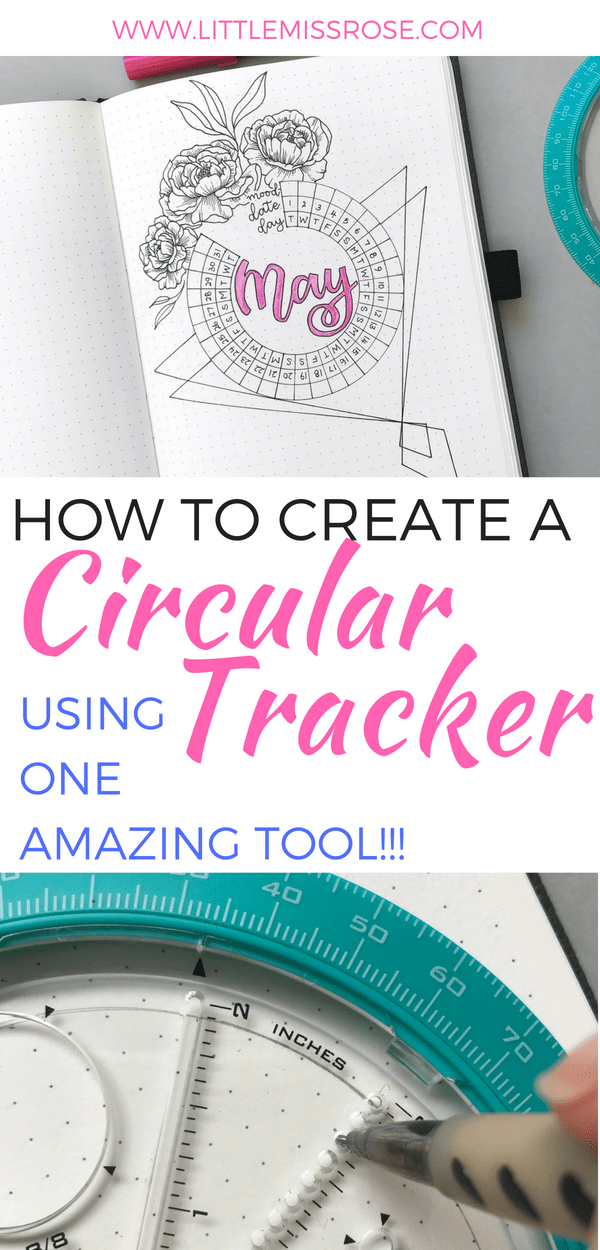 Check out this simple step-by-step guide on how to create a circular spread such as a circle habit tracker in your bullet journal #bulletjournal #calendarwheel #moodtracker #circletracker