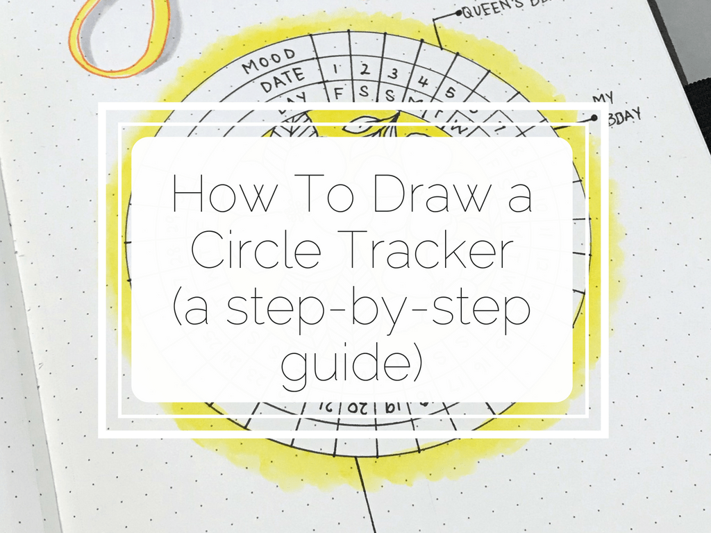 If you love circular spreads, then read this tutorial on how to draw a circle tracker for your bullet journal