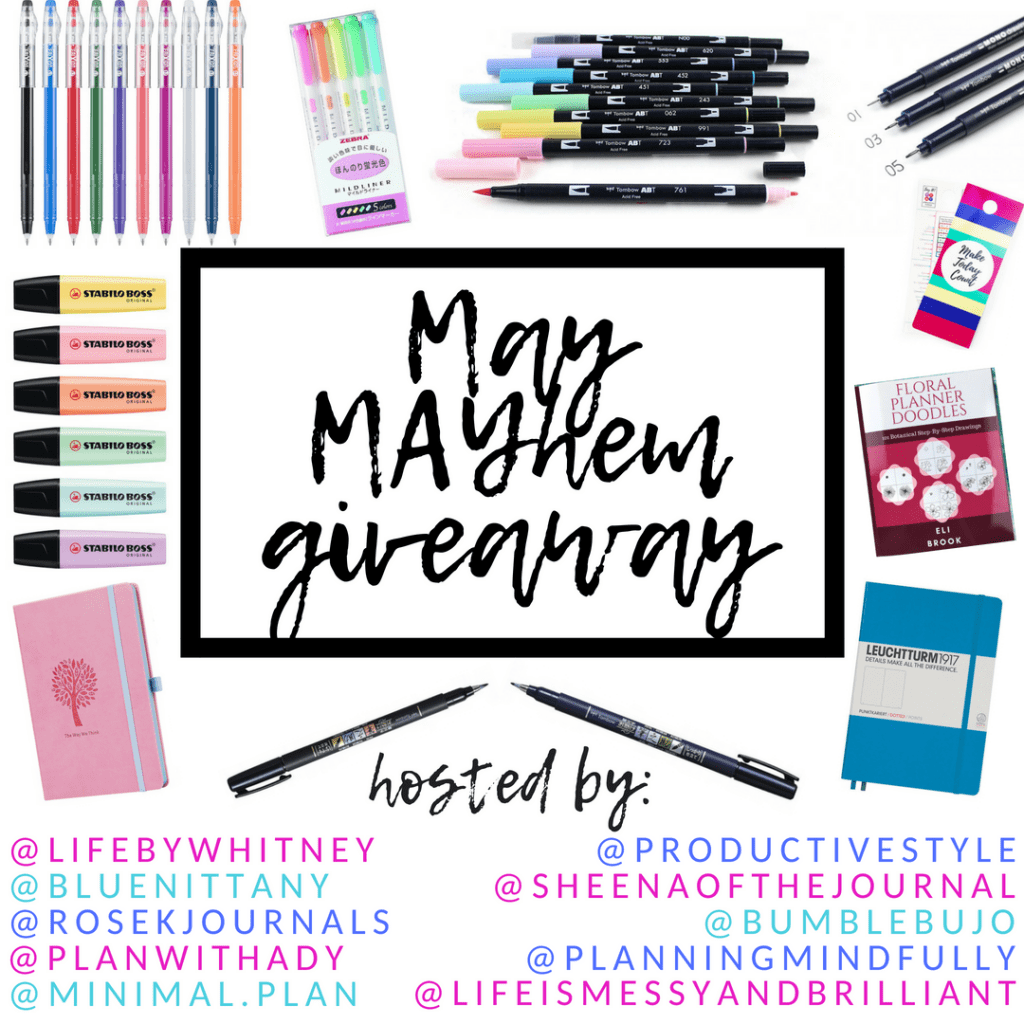 Be in to win one of three HUGE bullet journal prizes
