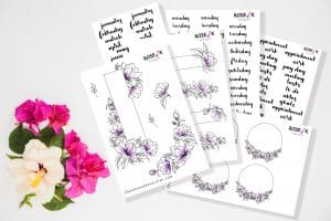 Best Mother's Day Gifts - Sticker Set Rose K Paper Co