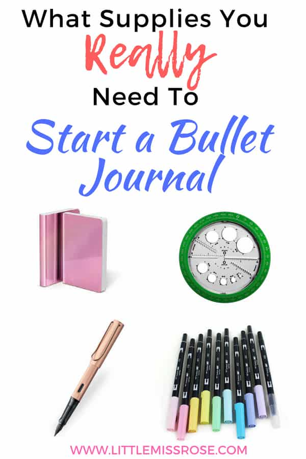 There are only a handful of stationery items that you really need to start a bullet journal, this article will give you the full list. #bulletjournal #bujo