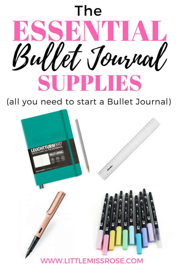 Find out what you really need to start a bullet journal. This article will list all the stationery supplies you need to start today!