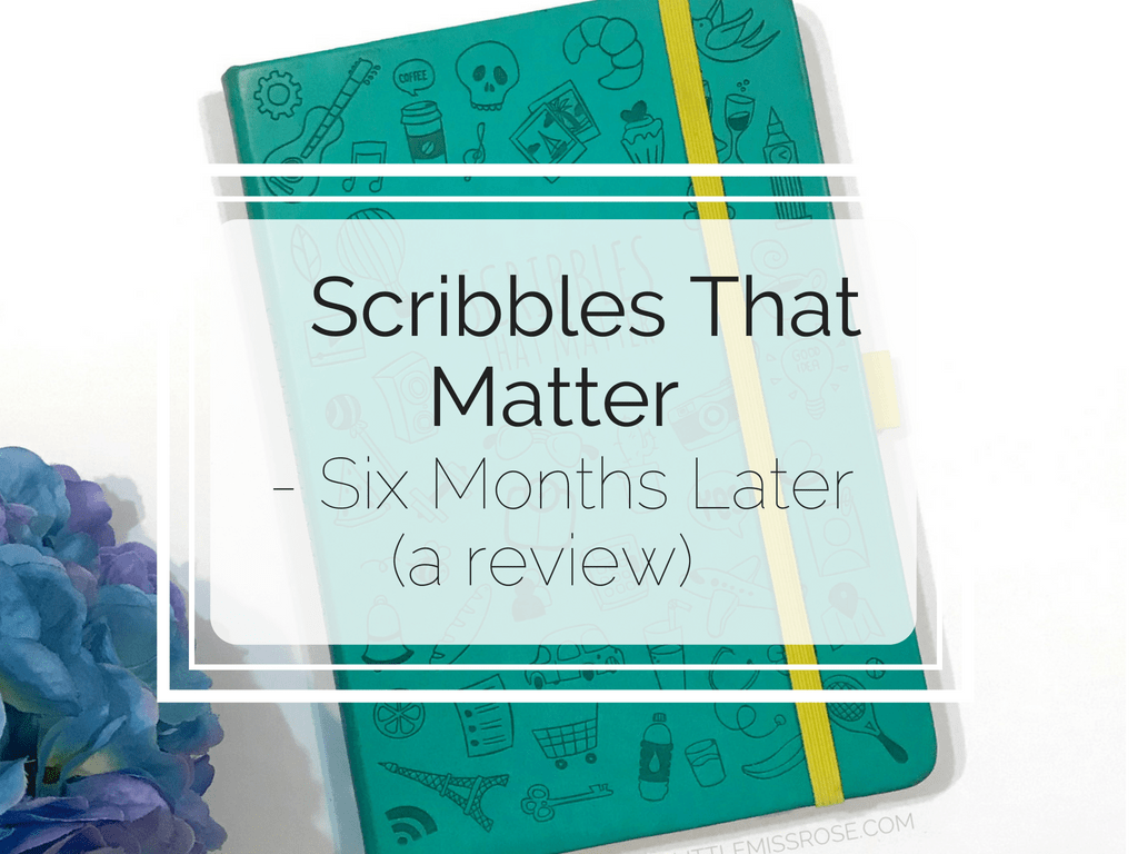 Scribbles That Matter - Six Months Later (a review) Blog header
