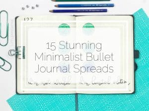15 Stunning Minimalist Bullet Journal Spreads