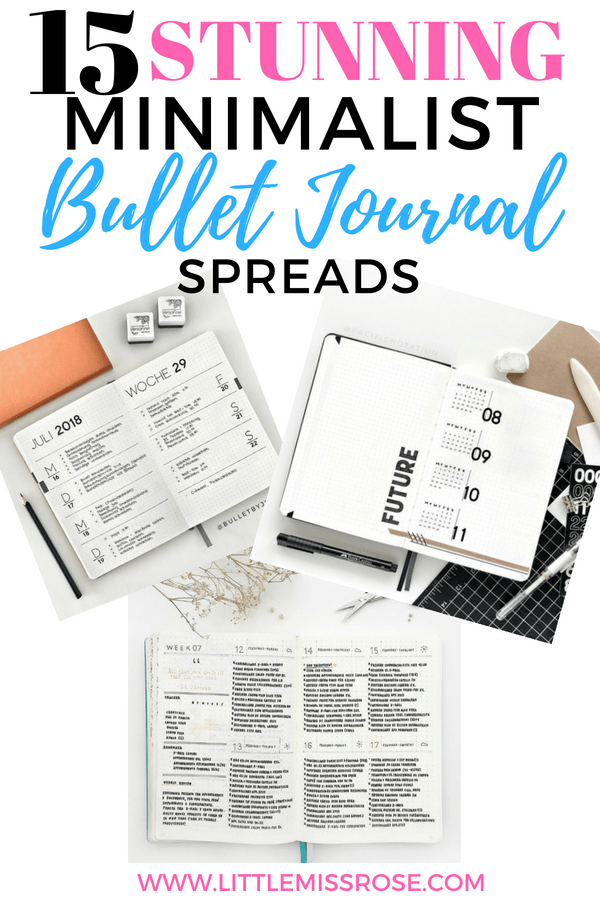15 absolutely stunning minimalist bullet journal spreads to provide you with plenty of inspiration for your bujo #bujo #bulletjournal #minimalistbujo #minimalist #bulletjournallayout #bulletjournalspreads