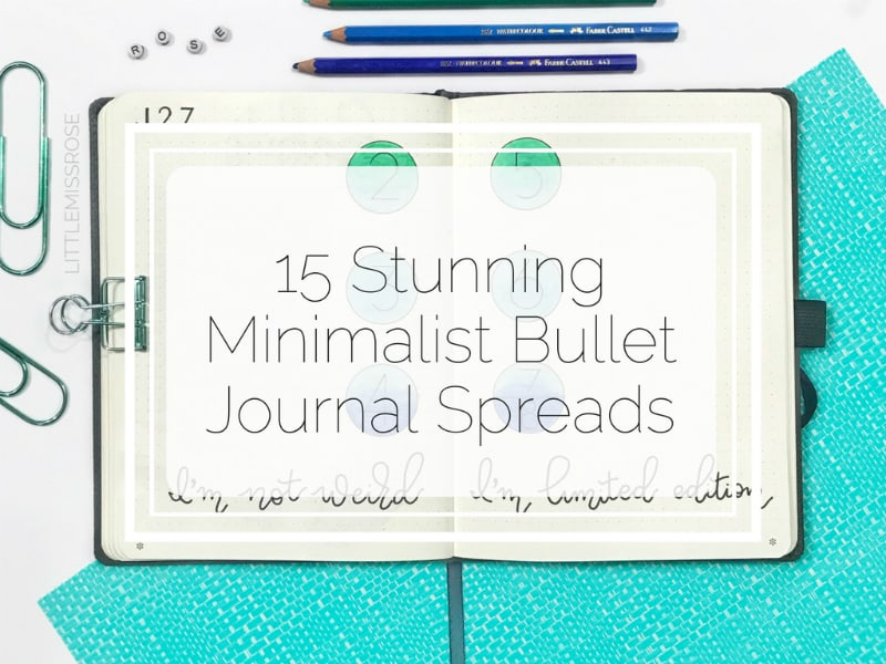 check out this amazing post full of stunning minimalist bullet journal spreads for inspriation and ideas!