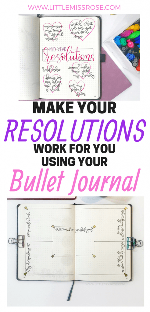 Now is the time to reassess your resolutions to see if they're working for you. Read this article to find out how you can use your bullet journal to set yourself some mid-year resolutions #bulletjournal #resolutions #bujo #bulletjournalinspiration #bulletjournalideas