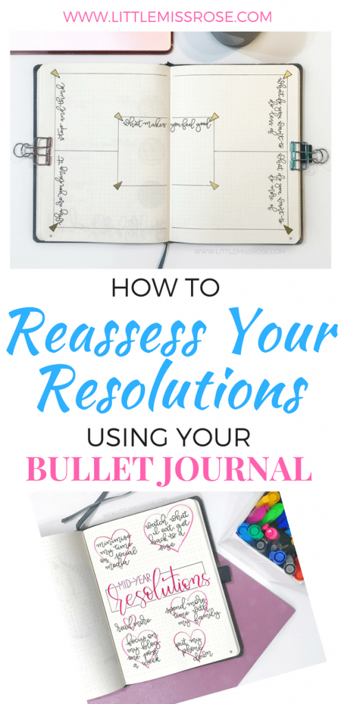Reassess your resolutions using your bullet journal. This article will show you how to go about it, including a free printable to help you get started. #bulletjournal #bujoinspiration #resolutions