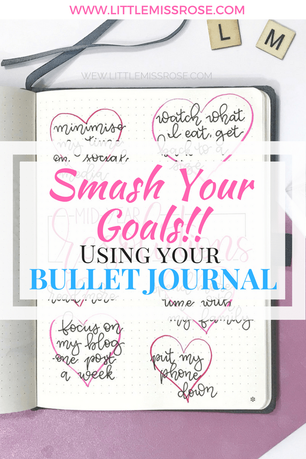 Smash your goals using these techniques in your bullet journal. Set yourself some resolutions in your bullet journal and stick to them! #bulletjournal #bulletjournalinspiration #resolutions