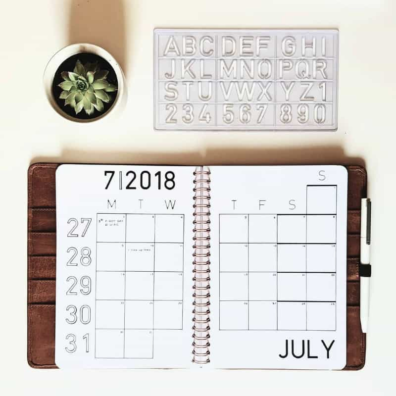 Minimalist Bullet Journal Spreads @sijasbullets