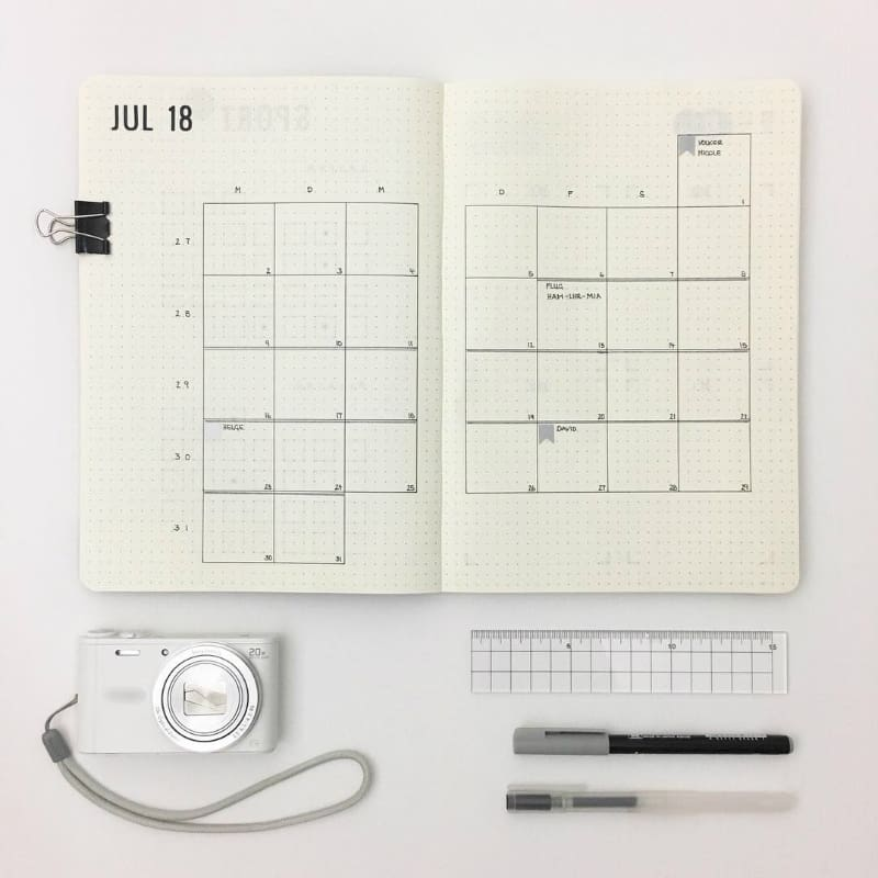 Minimalist Bullet Journal Spreads @sweet_journaling