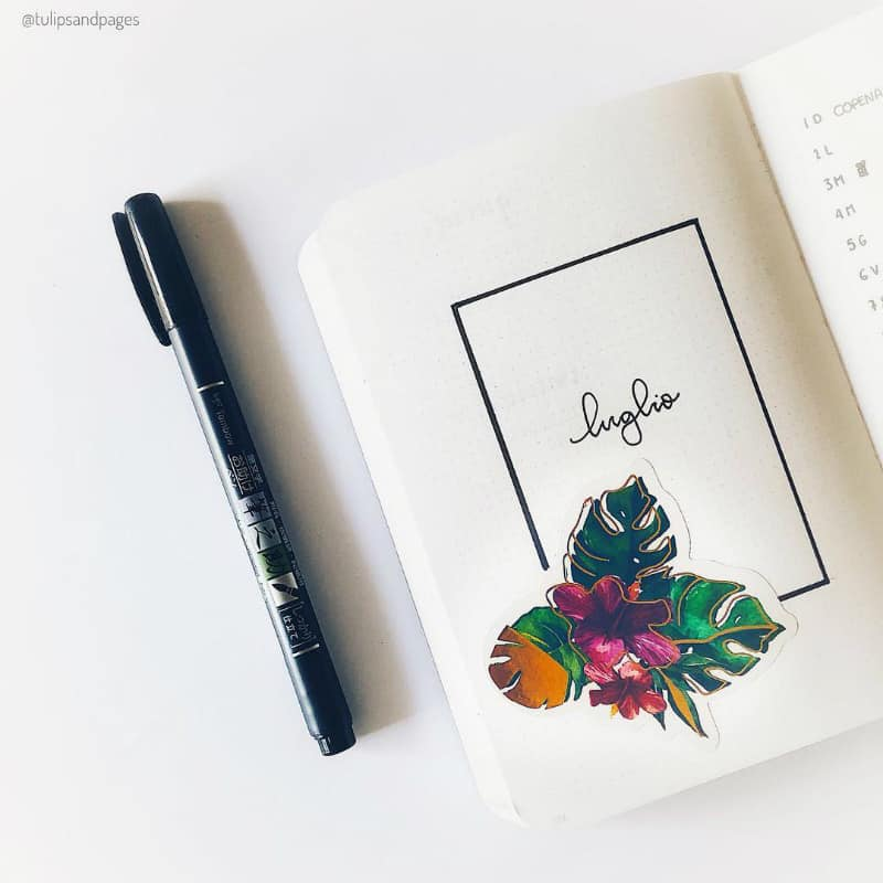 Minimalist Bullet Journal Spreads @tulipsandpages