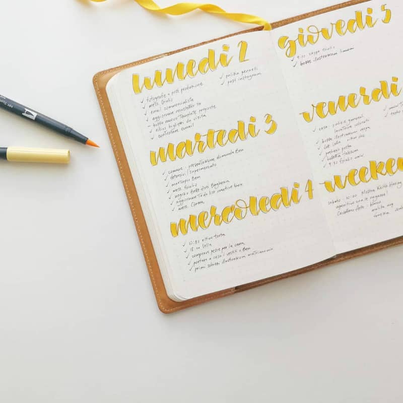 Minimalist Bullet Journal Spreads @writeitonthewall