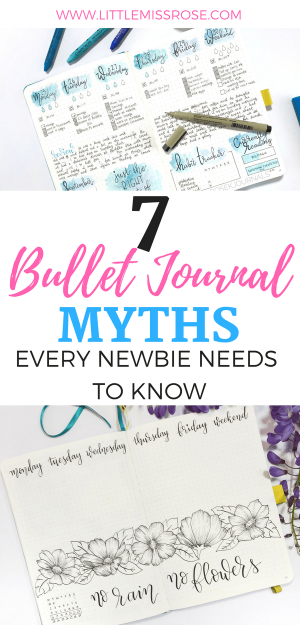 If you're new to bullet journaling read these 7 bullet journal myths so you don't make these mistakes! #bulletjournal #bujo #bulletjournalnewbie #bulletjournaltips #bujotips