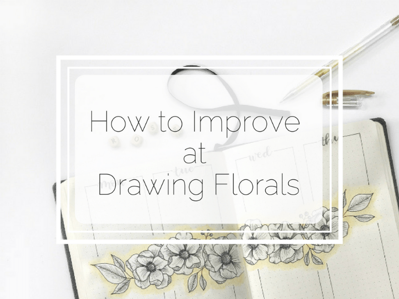 Learn how to improve at drawing florals for your bullet journal. There's also a video to watch! #bulletjournal #bulletjournalflorals #florallinedrawing #bujo