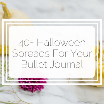 40+ Halloween Spreads For Your Bullet Journal