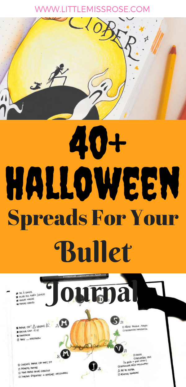 Find inspiration for your October bullet journal spreads in this blog post which rounds up all the best Halloween themed spreads, layouts and doodles for your bujo
