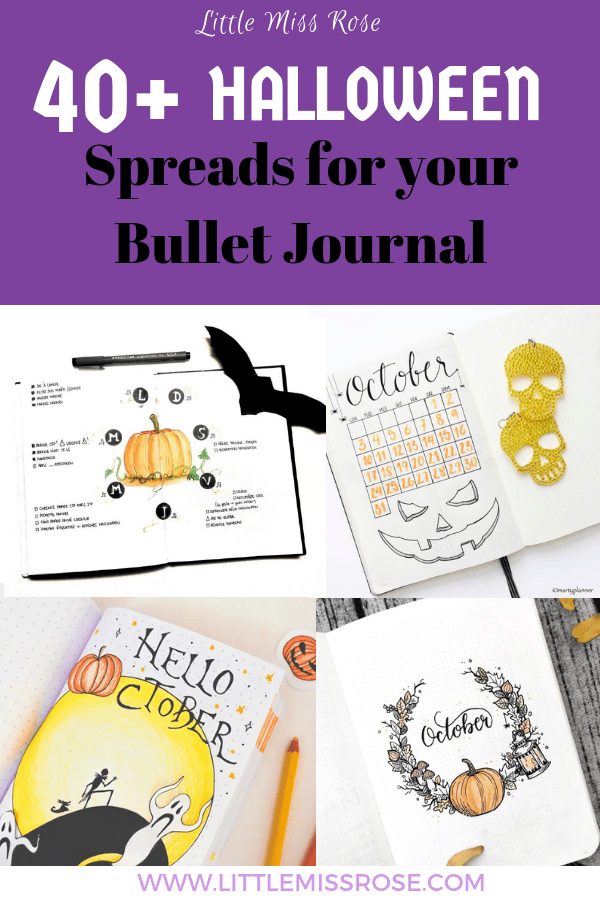 40+ bullet journal ideas to decorate your October bullet journal pages with a halloween theme. Find ideas and inspiration for monthly logs, weekly spreads, collections, trackers, doodles and many more