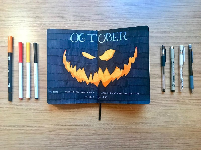 Amazing bullet journal halloween spreads for your october theme. Including layouts, cover pages, collections, lists and more!