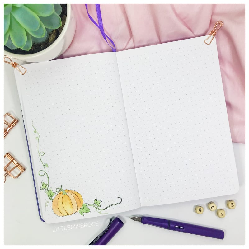 October 2018 Plan with Me Journaling Little Miss Rose
