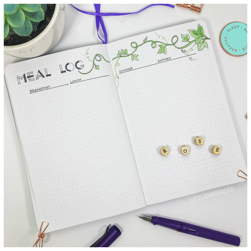 October 2018 Plan with Me Meal Log Little Miss Rose