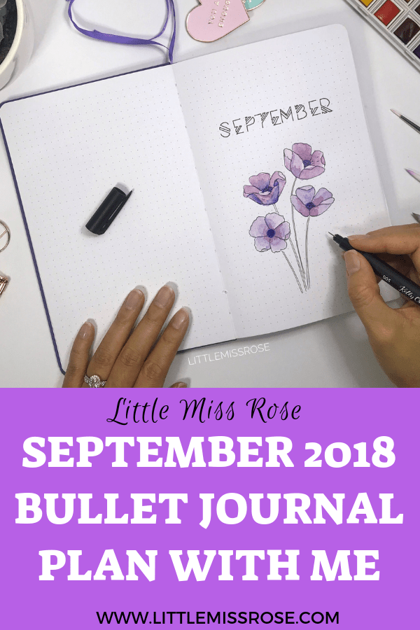 Get ideas for your bullet journal monthly log and weekly spread with this Plan with Me for September