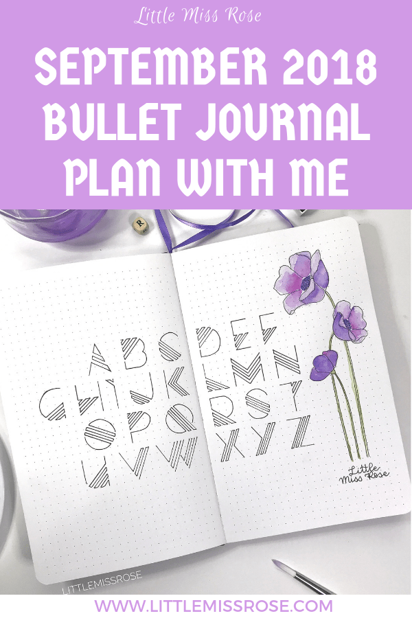 I'm sharing with you my Bullet journal plan with me for September.  It will give you lots of ideas for monthly logs, trackers and weekly spreads