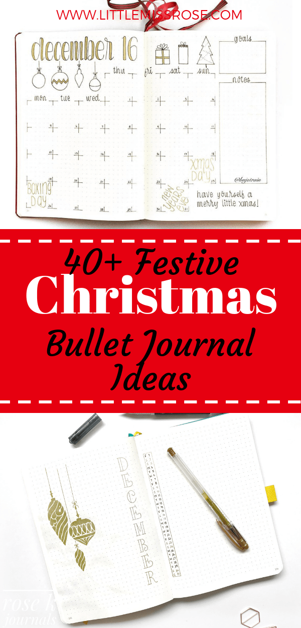Check out these 40+ inspiring Christmas bullet journal spreads to get you ready for the festive season!