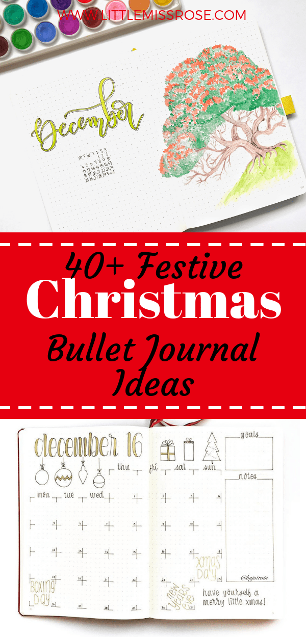 Get your bullet journal ready with these 40+ jolly christmas spreads and layouts.  Find all the inspiration you need in one place!