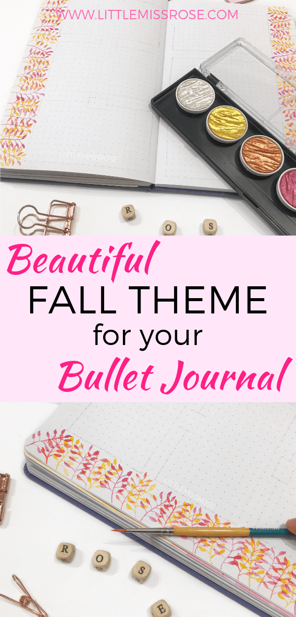 Learn how to paint these beautiful fall leaves in your bullet journal for a lovely autumn theme weekly spread