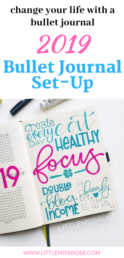 Follow along in this 2019 bullet journal set up - future log, index, key, year in pixels, birthday calendar and so much more